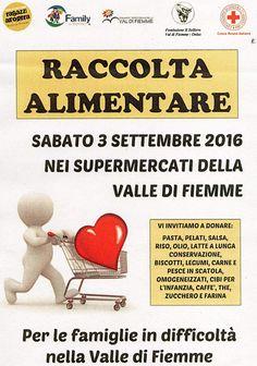 Raccolta alimentare 3 settembre, Fiemme for Fiemme