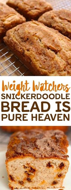 Bread Snickerdoodle Weight Watchers is a clear sky ! – solution recipe weight watchers by … Weight Watcher Desserts, Plats Weight Watchers, Weight Watchers Diet, Weight Watchers Muffins, Weight Watcher Breakfast, Weight Watcher Cookies, Weight Watcher Bread Recipe, Weight Watchers Cupcakes, Weight Watcher Banana Bread