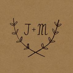 Image of Custom Wedding Logo Design