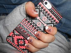 Cute phone case I love the print style:)