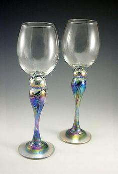 Wine Glasses: Mark Rosenbaum: Art Glass Goblets - Artful Home