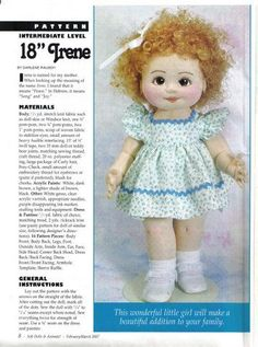 Textile doll Irene. Pattern. MK in the schemes. Discussion on LiveInternet - Russian Service Online Diaries