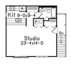 Studio Apartment Garage garage with studio apartment above (hwbdo67359) | house plan from