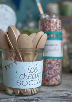 Host an Ice Cream Social Party Printables