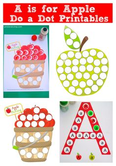 a is for apple do a dot printables