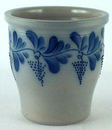 EP100EldrethPotteryCrock.jpg 225×259 pixels.  Great example of cobalt blue, Salt Glazed Stoneware