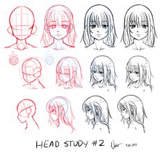"""Number tutorial in my """"Nsio explains"""" series. Talking about foreshortening for continuation from perspective. I thank all those who commented on my rude tone in this tutorial. I have defi. Hair Reference, Drawing Reference, Head Proportions, Cartoon Head, Manga Tutorial, Artist Alley, Drawing Expressions, Planner Book, Head Shapes"""