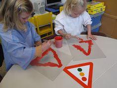 Montessori Preschool, Preschool Activities, Projects For Kids, Diy For Kids, Transportation Theme Preschool, Geometric Elephant, People Who Help Us, Kindergarten Art Projects, Pre Writing