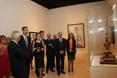 King Philip and Queen Letizia were visiting Malaga where two official acts were waiting: first, they visited the Picasso museum before attending the opening dinner of the forum Spain / USA.