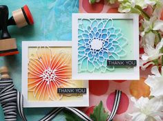 Simon Says Stamps - Mum & Cosmo Flower Frame Dies
