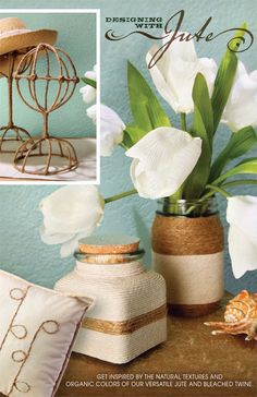 Get inspired by the natural textures and organic colors of our versatile jute and bleached twine…