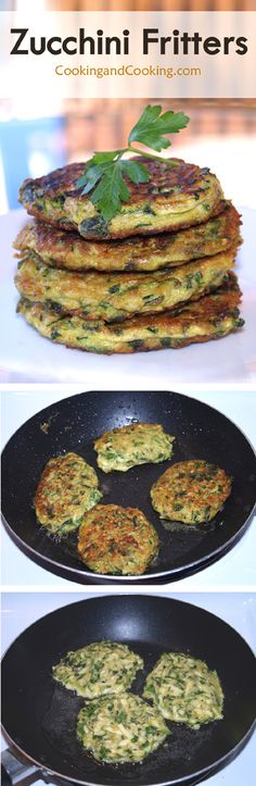 These tasty and crispy zucchini fritters are so quick and easy make. Vegetable Recipes, Vegetarian Recipes, Cooking Recipes, Healthy Recipes, Sweet Recipes, Zucchini Fritters, Veggie Dishes, Side Dishes, Best Food Ever