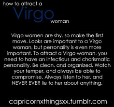 how to attract a virgo woman