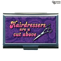 Business Card Holder for Hair Stylists, Hairdressers - This is a great gift item for those that have a supply of business cards that they like to give out to their hair clients.