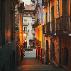 Teruel, Spain by Julia Dávila Lampe. Spanish Art, Pretty Photos, Spain And Portugal, City Living, Street Signs, City Life, Far Away, Pathways, Places To See