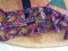 Silk Yarn Butterfly Scarf | AllFreeCrochet.com
