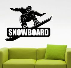 Snowboarding Wall Decal Snowboarder Sticker by AmandaCooldesigns