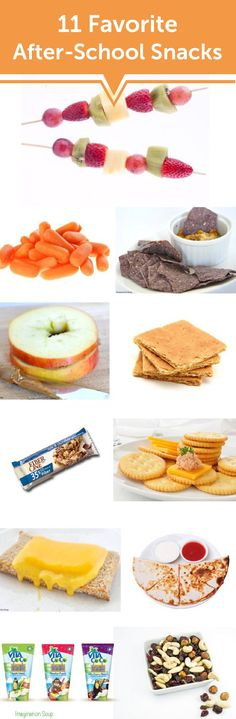 Crunched for time and looking for a snack option that includes fresh produce and better-for-you ingredients? These 11 Favorite After-School Snacks are sure to help!