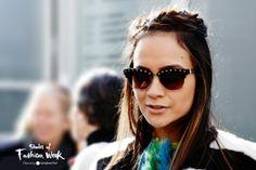 It's all about some studded details. London Fashion Week. #LFW #ShadesOfFashionWeek #sunglasses