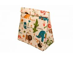 Bolsa Breakfast Bag My Bag's Animal Zoo White My Bags, Floral Tie, Sewing, Breakfast, Kids, Accessories, Amanda, Breakfast For Children, Lunches