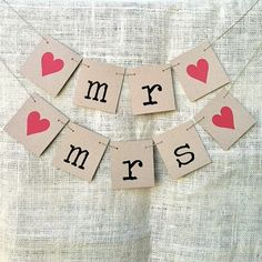 MR & MRS Rustic Wedding Banners