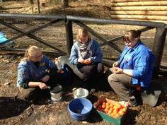 FDF #GUF kursus 2013 #education gruppe Gourmet over bål Trine Bierregaard