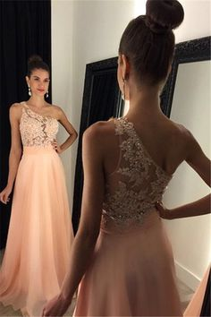 One Shoulder Prom Dress Long Wedding Party Gown Cocktail Formal Wear pst1430