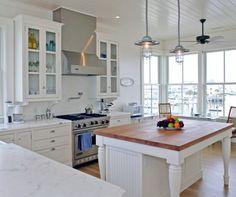 Rustic Pendants Add Industrial Style to Coastal Beach House | Industrial FarmHouse