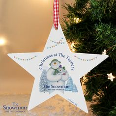 Our The Snowman and the Snowdog Christmas Wooden Star Decoration will look great on any Christmas tree or hung around the some as a festive feature.This wooden star decoration can be personalised with a name up to 12 characters and a year. Babys 1st Christmas, Christmas Makes, Christmas Wood, Christmas Gifts For Kids, Pink Christmas, Christmas Ornaments, Personalised Christmas Baubles, Wooden Christmas Decorations, Hanging Decorations