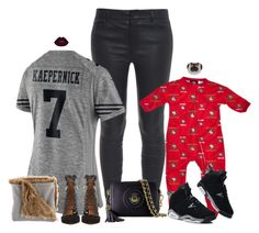 """Salute To Service."" by nba-luvher ❤ liked on Polyvore featuring Vince, NIKE, Aquazzura, NFL, footballfashion and mommyandme"