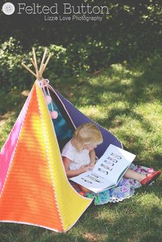 Toddler Teepee #Crochet Pattern by Susan Carlson of Felted Button