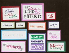 All Holidays Index card by galleryindex - Cards and Paper Crafts at Splitcoaststampers