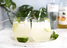Gin Hass - opskrift på den lækre frugtrige mango cocktail med lime Cocktail Drinks, Cocktails, Alcoholic Drinks, Beverages, Gin, A Food, Food And Drink, Getting Drunk, Healthy Smoothies