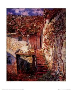 Die Treppe Art Print by Claude Monet