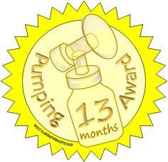 Pumping Award: 13 Months