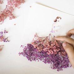 Nuevas ilustraciones híbridas de flores y moda por Limzy - POP-PICTURE