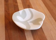 White And Gray Abstract Dish - Delphi Artist Gallery