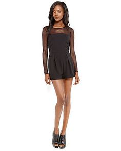 This long sleeve romper is fit to flatter. Tights and booties will transition your look into the colder months ahead. #TheRomantics #NecessaryObjects #Romper #Illusion