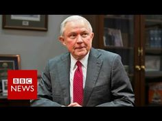 Trump Attorney General Jeff Sessions under fire over Russia meetings - BBC News General Schedule, Cory Booker, Jeff Sessions, Us Government, Vladimir Putin, Attorney General, Bbc News, Donald Trump