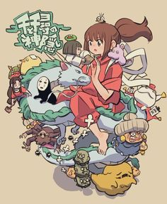 Studio Ghibli Art, Studio Ghibli Movies, Chihiro Y Haku, Wallpaper Animes, Girls Anime, Hayao Miyazaki, Image Manga, Anime Angel, Cute Cartoon Wallpapers