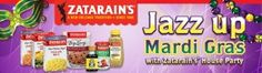 Host a Jazz up Mardi Gras with Zatarain's House Party