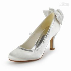 Wholesale White Wedding - Buy New 2013 Satin Wedding Shoes/pumps with Bowknot TH12128, $51.0 | DHgate