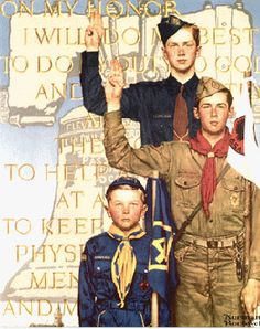 norman rockwell bsa prints | ... but two years, he painted calendars for the Boy Scout organization