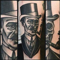 Gentleman skull tattoo