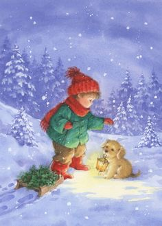 Leading Illustration & Publishing Agency based in London, New York & Marbella. Snoopy Christmas, Noel Christmas, Christmas Animals, Winter Christmas, Christmas Crafts, Xmas, Illustration Noel, Christmas Illustration, Magical Christmas