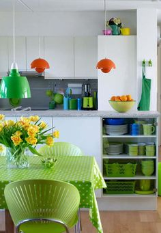Lime Green Kitchen favorite-places-and-spaces