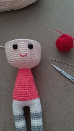 Amigurumi - Emine Baby Pattern Recipe - Knitting Models - My Recommendations Baby Knitting Patterns, Crochet Amigurumi Free Patterns, Knitting For Kids, Baby Patterns, Crochet Toys, Amigurumi Doll, Kind Mode, Crochet Projects, Hand Embroidery