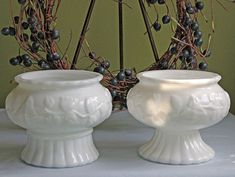 Milk Glass Wedding Bowls.  Center Pieces  by AnythingDiscovered