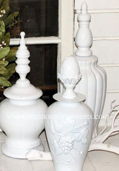 One More Time Events...: Re-purposed Lamps and Vase for Home Decor Accent Piece
