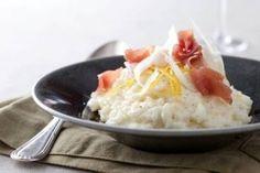 Découvrez cette recette de Riz crémeux au fenouil, citron et jambon cru…